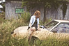 (yyellowbird) Tags: girl cari abandoned car ohio old ford mustang foxbody beige