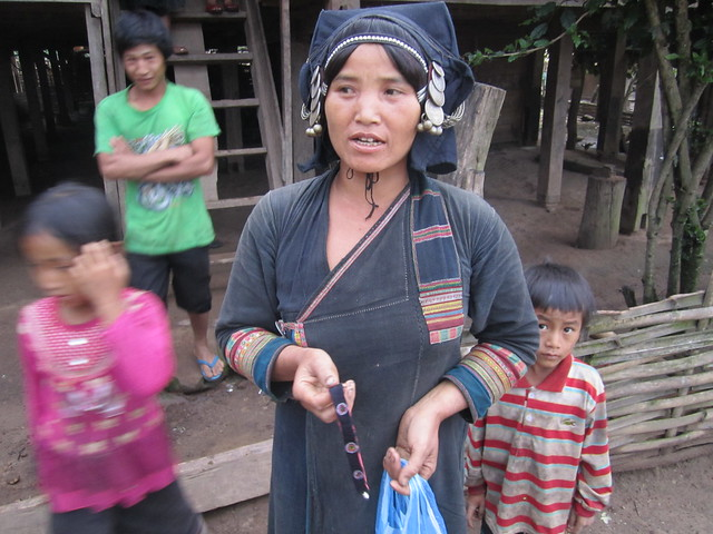 This is an Akha woman in the north of Laos (copyright Bohemian Traveler.com)
