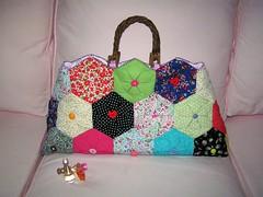 """Summer Love"" bag (nadidenin) Tags: origami handmade fabric bags patchwork japanesepattern"