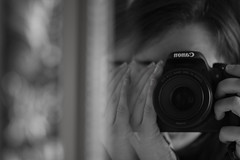 Distorted Reflections (phoebe.horner) Tags: black white bw camera canon cameras 700d portrait mirror mirrors portraits photo photograph photography photographer distort distortion reflect reflection reflections