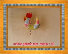 mbile galinha (nassaralla bijuterias e artesanato) Tags: galinha artesanato decorao tecido mbile