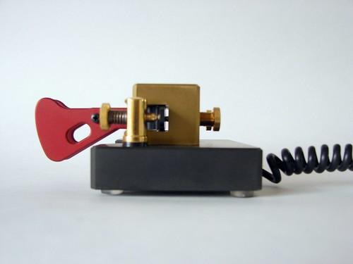 Begali Magnetic Professional Iambic Paddle Morse Key - a