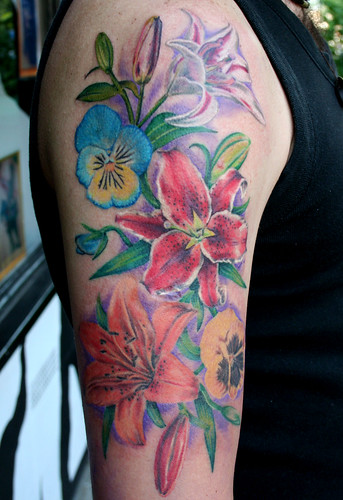 flower tattoo realistic tattoos