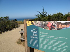 Welcome sign, Año Nuevo   (Swanton, California, United States) Photo