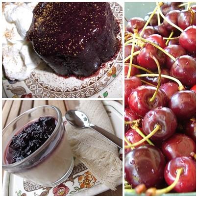 desserts con ciliegie