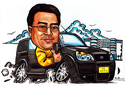 Caricature in Fiat Doblo Cargo 1.3