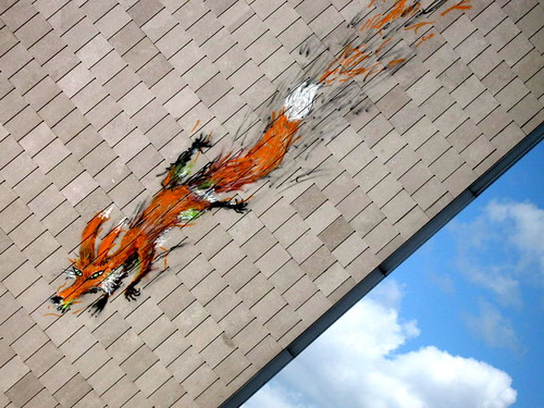 Brussels street art - Bonom fox