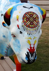 "Part of the ""Where the Painted Buffalo Roam"" exhibit, West Yellowstone, Montana (IMG_1686a) (Alaskan Dude) Tags: travel art buffalo montana wildlife westyellowstone paintedbuffalo wherethepaintedbuffaloroam"