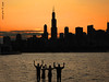 The Human Towers, Chicago (iCamPix.Net) Tags: sunset chicago canon illinois searstower 1993 explore frontpage cookcounty willistower markiii1ds