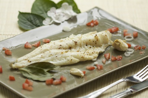 Haddock with Bay Leaves