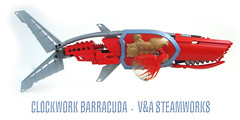 Clockwork Barracuda (V&A Steamworks) Tags: bear fish lego va shield aquatic steamworks barracuda steampunk bearacuda