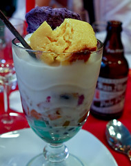 Yesterday's dessert (Ramon2002) Tags: ice fruits dessert switzerland milk zurich cream icecream tropical flan crushed halohalo ube gelatin caramelcustard