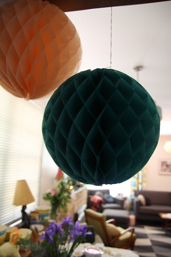 Honeycomb tissue ball decorations
