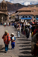 Manifestation, Cuzco, Pérou