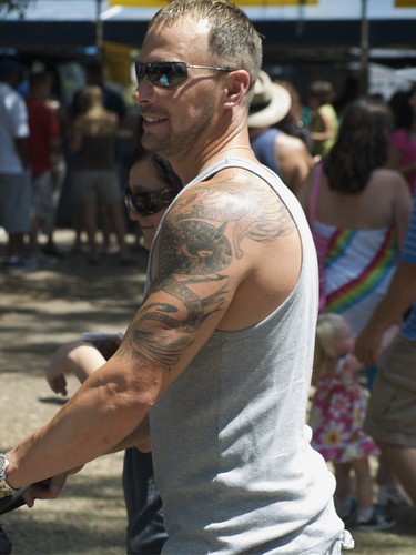 Cornstalk Fence Hotel · Dragon Snake Arm and Shoulder Tattoo