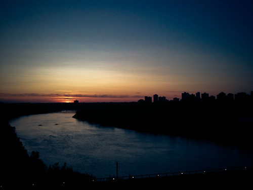 sundown in the paris of the prairies