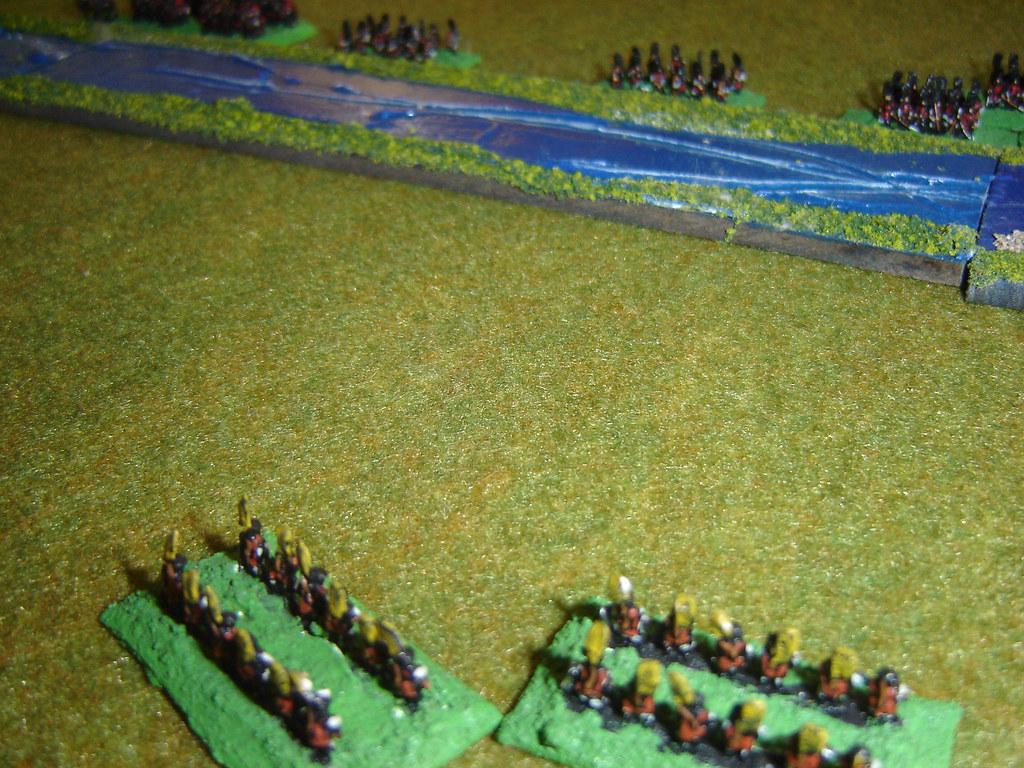 Toyotomi arquebusiers thrown back by skirmishers
