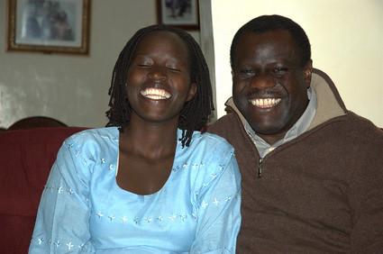 Kakenya Ntaiya was meeting with her old friend Julius Sunkuli, the present ambassador to China, in Kilgoris, Kenya.  Author: Luna Liu Partner: Kakenya Center for Excellence & Vital Voices Location: Kilgoris Kenya Year:2009