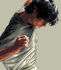 Marlon In A White Shirt Art (Mel Marcelo) Tags: portrait fashion shirt hair vectorart tshirt tee dior malemodel grafx grays adobeillustrator spotcolors melmarcelo meltendo mpyregraphics melitomarcelo