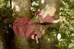 (mioke) Tags: tree nature flying dress climbing gril