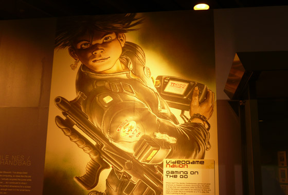 Cool wall artwork for the 'gaming on the go' section