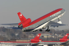 Northwest Airlines McDonnell-Douglas DC-10-30 N233NW (Flightline Aviation Media) Tags: airplane airport northwest aircraft aviation jet minneapolis msp canon10d airlines nwa stockphoto dc10 mcdonnelldouglas kmsp dc1030 n233nw bruceleibowitz 792931