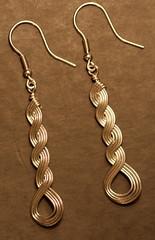 Wirely woven sterling silver earrings