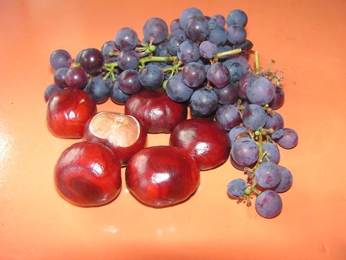 kastanjes en druiven
