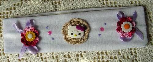 Faixa de cabelo branca Hello Kitty - Ref.23/09
