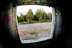 A room with a view (lundwall) Tags: abandoned window training town sweden military ghost wide fisheye tokina sverige bullets grounds ammunition 1017 bors boras 1017mm bockaby