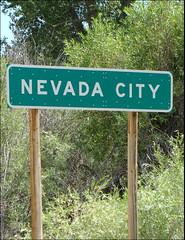 44605 Nevada City Sign