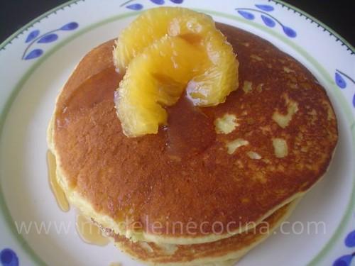 Hotcakes de maiz con naranja