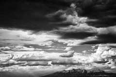 Break in the Clouds (- Jeff Wilson -) Tags: blackandwhite bw mountain newmexico nature delete10 clouds delete9 landscape delete5 delete2 delete6 delete7 delete8 delete3 delete delete4 save save2 delete11 jeffwilson