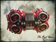 The Red Stone (crises_crs) Tags: ship lego space engine darkred lugpol btt09 bricktransporttycoon