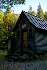 Cabin III (dididumm) Tags: wood house mountain berg forest germany bayern bavaria wooden cabin woods htte experiment haus holz wald intheshadow imschatten allgueralpen allgualps
