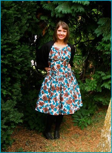 3.10.2009: vintage 1950s day dress