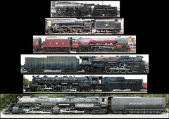 6 Steam locomotives to scale (Nick_Fisher) Tags: california railroad boy ohio scale up museum tren big colombia pacific angeles fairground yorkshire nick union north cathedrals eisenbahn railway lizzie baltimore steam american fisher historical moors locomotive 480 express pomona standard mallet sutherland chapter society berkshire gauge narrow baldwin chesapeake 4014 articulated vapor locomotora coronation skoda dampflok pickering girardot 2705 duchess ferrocarril dewhurst 460 alco dampf kanawha fairplex 462 蒸気機関車 284 6233 4884 1308 lokomotif stanier giradot 2662 black5 45212 doceruedas nickfisher vaporina 12wheeler