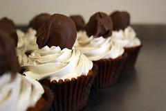 Cookie Dough Cupcakes (the_red_deer) Tags: baking chocolate cupcake brownsugar truffle cookiedough swissmeringuebuttercream chocchips