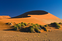 sossusvlei, namib desert early morning (Dove*) Tags: morning red orange sand shadows namibia sossusvlei namibdesert notdune45