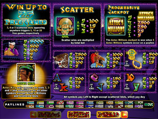 free Aztec's Millions slot mini symbol