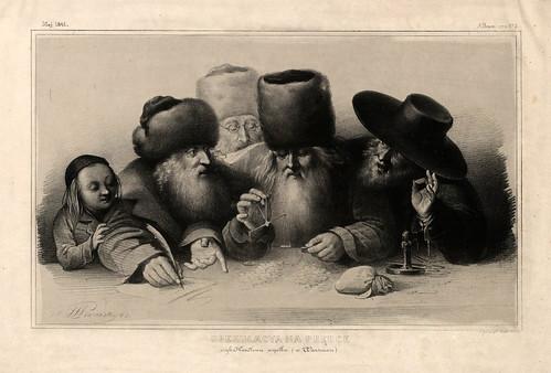 010-Una especulacion de dinero rapida- Varsovia 1841-Album de dibujos de Varsovia- Piwarski
