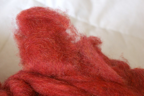 Rhinebeck Fiber: Triple R Farm wool & silk roving
