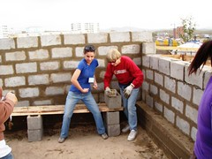 Who knew we could lay block? (Cultural Immersion) Tags: mongolia habitatforhumanity globalvillage darkhan