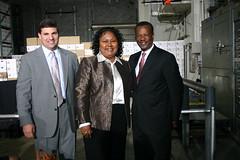 Senator Peters, Cheryl Landis and County Executive Jack Johnson