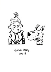 book-two-032-nathan-stapley (Leigh Walton) Tags: sketchbook ape tintin herg doublefine nathanstapley ape09