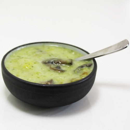 Bowl of Broccoli Potato Leek Soup