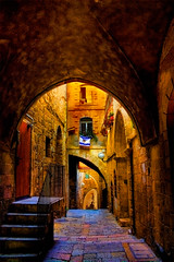 The most beautiful place in Israel: Light and Jerusalem (JoLoLog) Tags: travel israel jerusalem traveling lorien theoldcityofjerusalem theholyland canonxsi analleyinthejewishquarter traveltheholyland