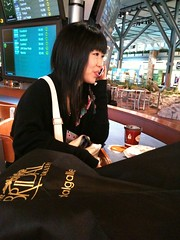 Sayaka at the airport