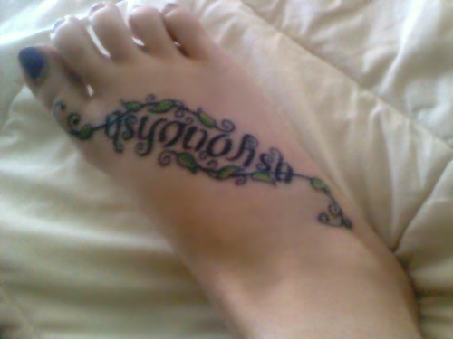 """As You Wish"" Ambigram Tattoo"