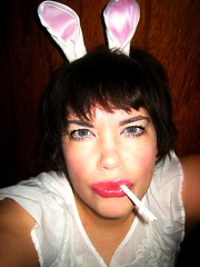 Candy Ciggie Bunny (Heather Lucille) Tags: mascara brunette bangs bunnyears candycigarette selfie lipplumper pullinaface coolkidstbale badittude pigtailwoowoo